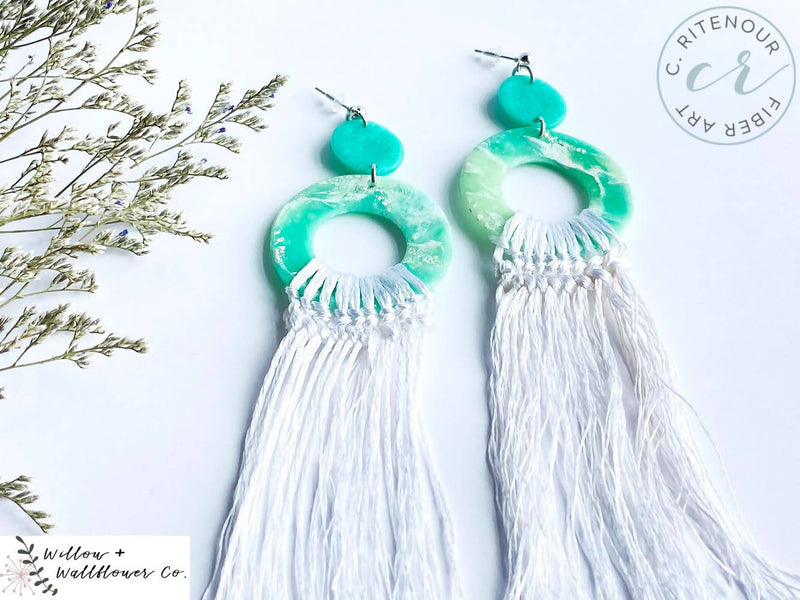 Boho Clay Earrings
