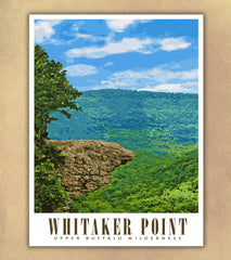Whitaker Point Travel Poster | Hawksbill Crag | Arkansas | USA | Print Only (frame not included)