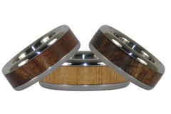 Titanium Wood Rings