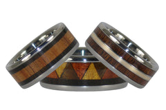 Custom Titanium Wood Rings