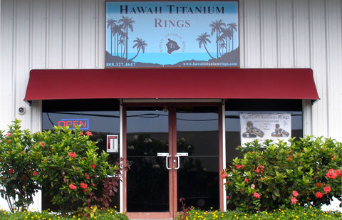 Hawaii Titanium Rings artist's studio