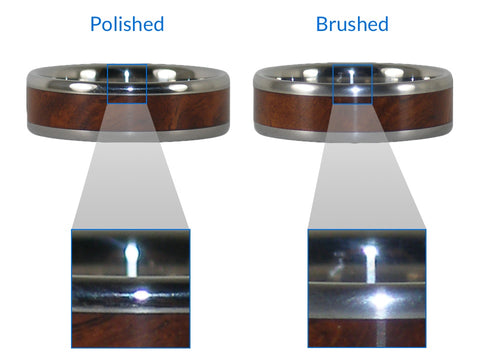 Polished vs Brushed Titanium Finish
