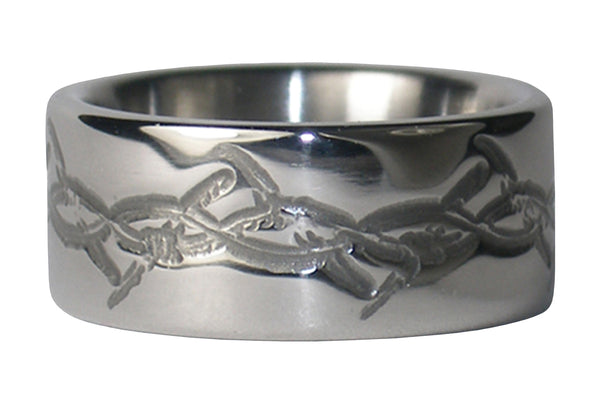 Barbed Wire Titanium Ring