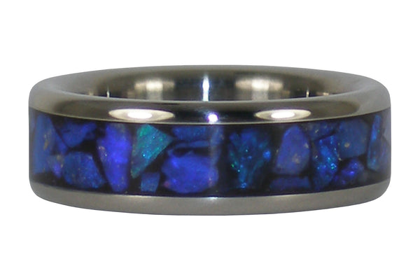 Black Opal Titanium Ring