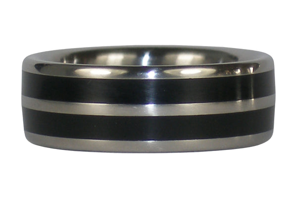 Black Jet Titanium Ring Band