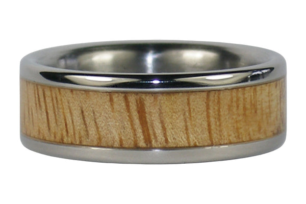 Mango Wood Titanium Ring