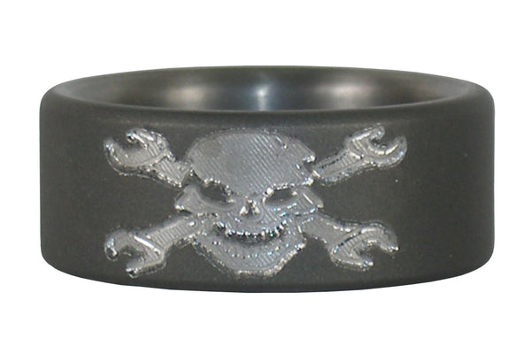 Skull Titanium Ring for Mechanics