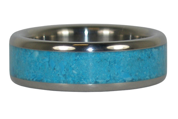 Sleeping Beauty Turquoise Titanium Ring