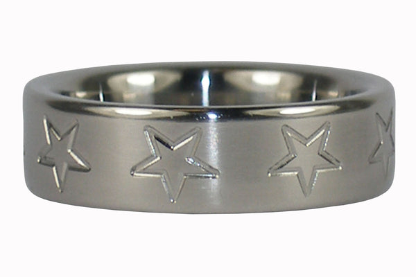 Star Titanium Ring