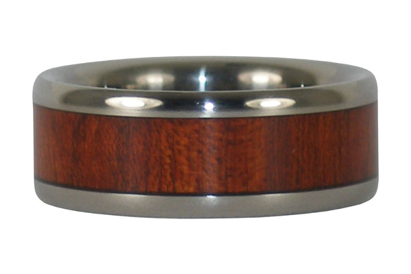 Bloodwood Titanium Ring