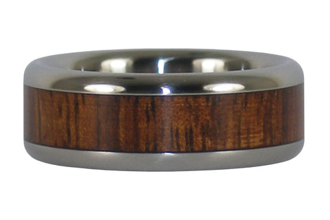 Dark Koa Wood Titanium Ring