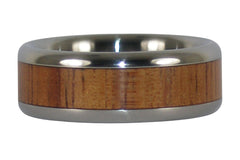 Fire Koa Titanium Ring
