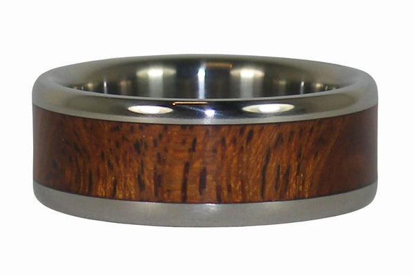 Kiawe Wood Titanium Ring