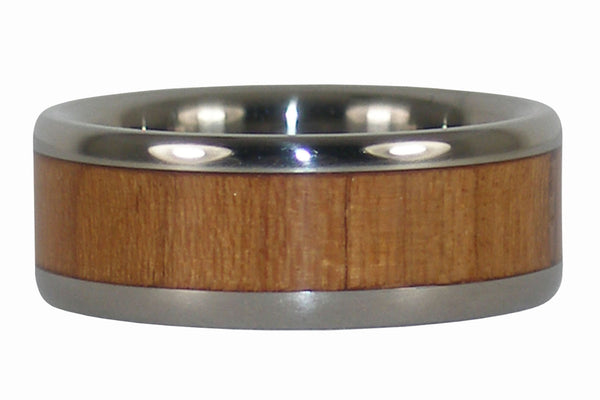 Maple Wood Titanium Ring