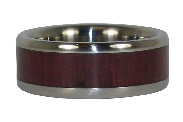 Titanium Purple Heart Ring Band