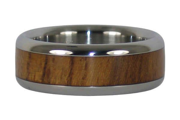 Teak Wood Titanium Ring