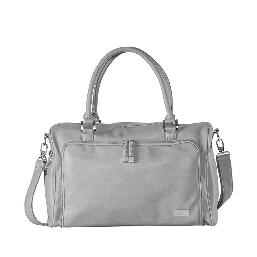 Isoki - Iso Double Zip Satchel Light Grey