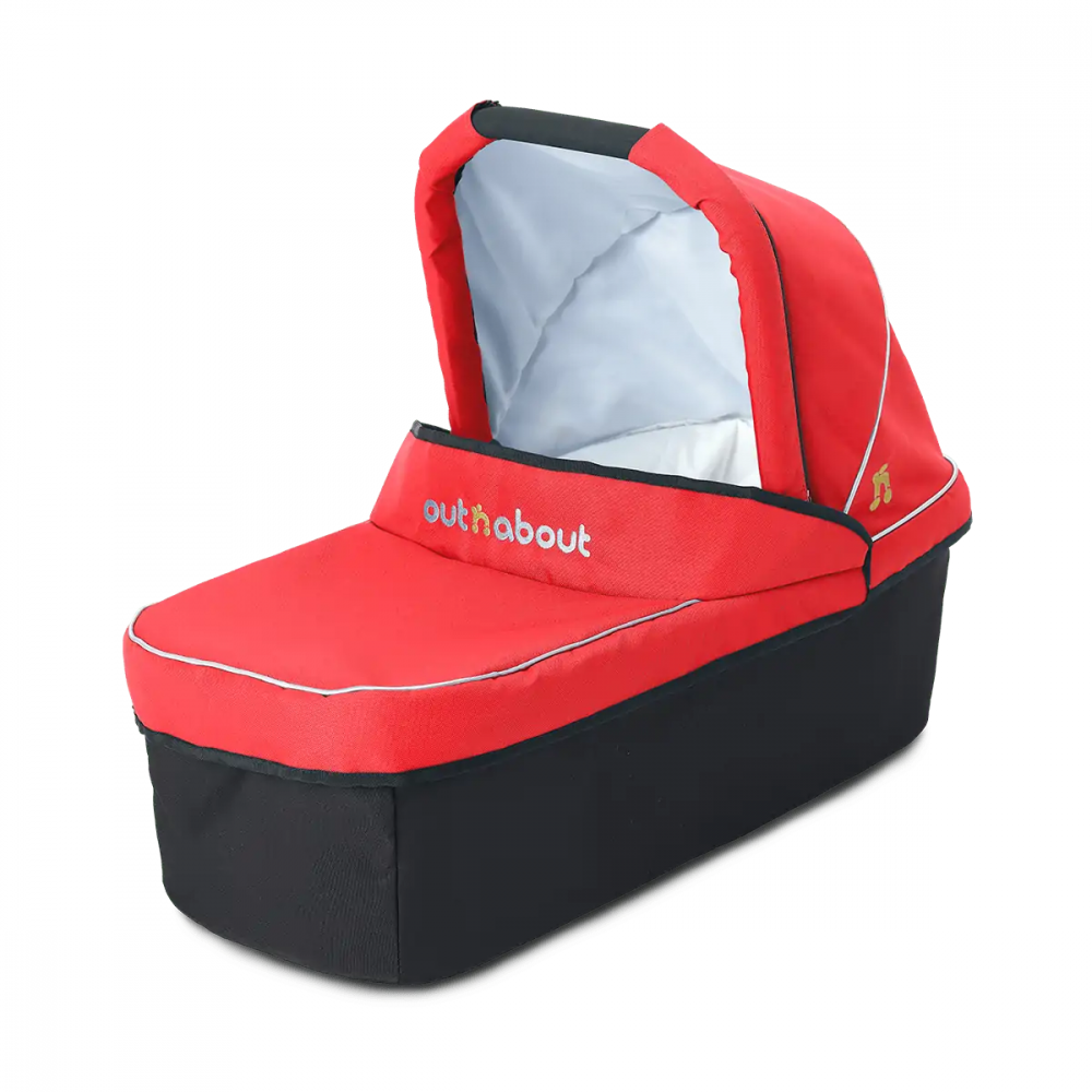 Outnabout - nipper carry cot - carnival red