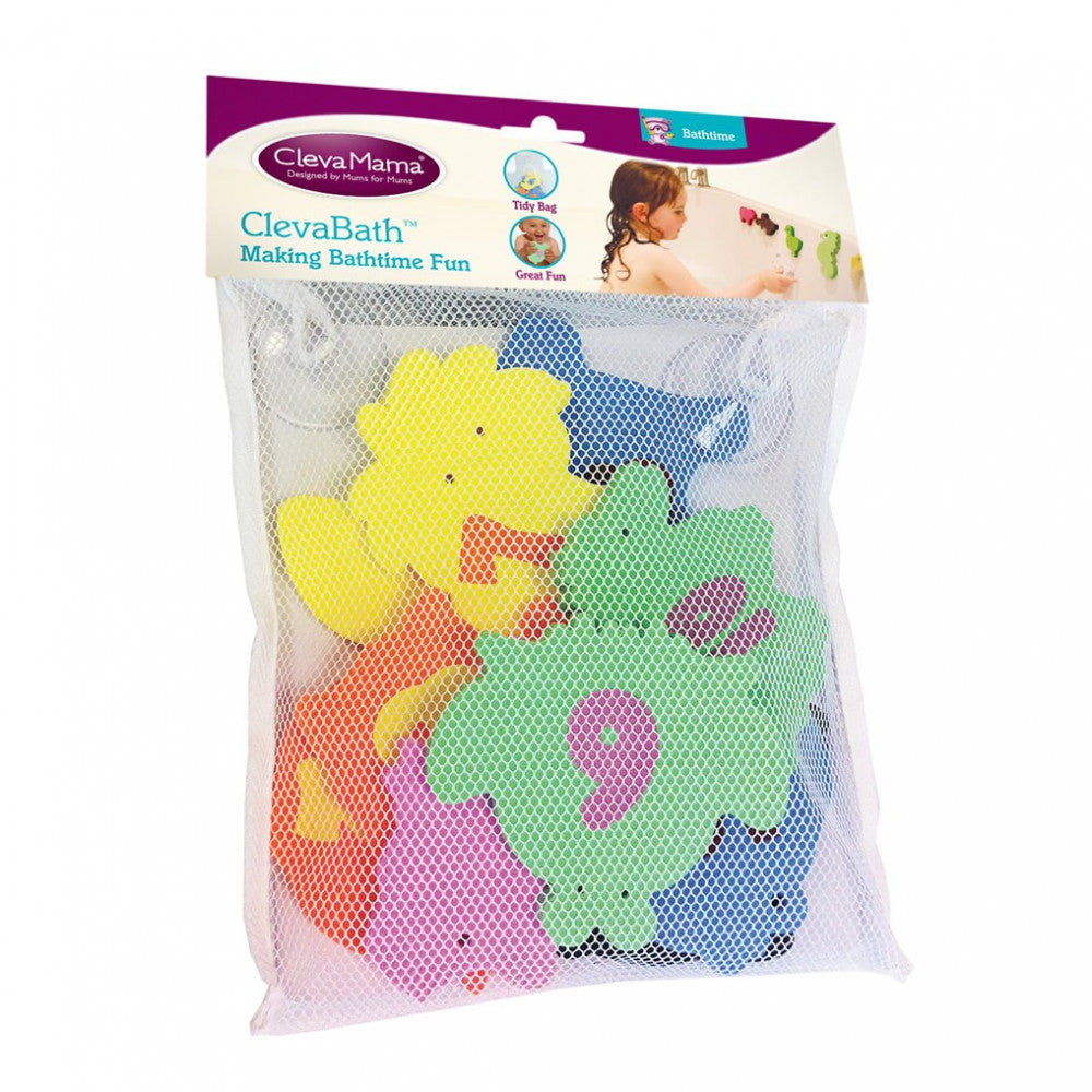 Clevamama - Bath Toys With Suction Tidy Bag