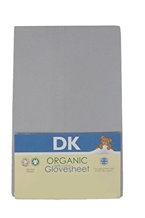 Dk Organic Glovesheet, Cot. To Fit Mattress: Approx. 120cm X 60cm. Grey