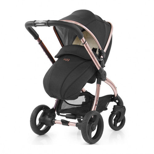 Egg stroller diamond black rose gold chassis