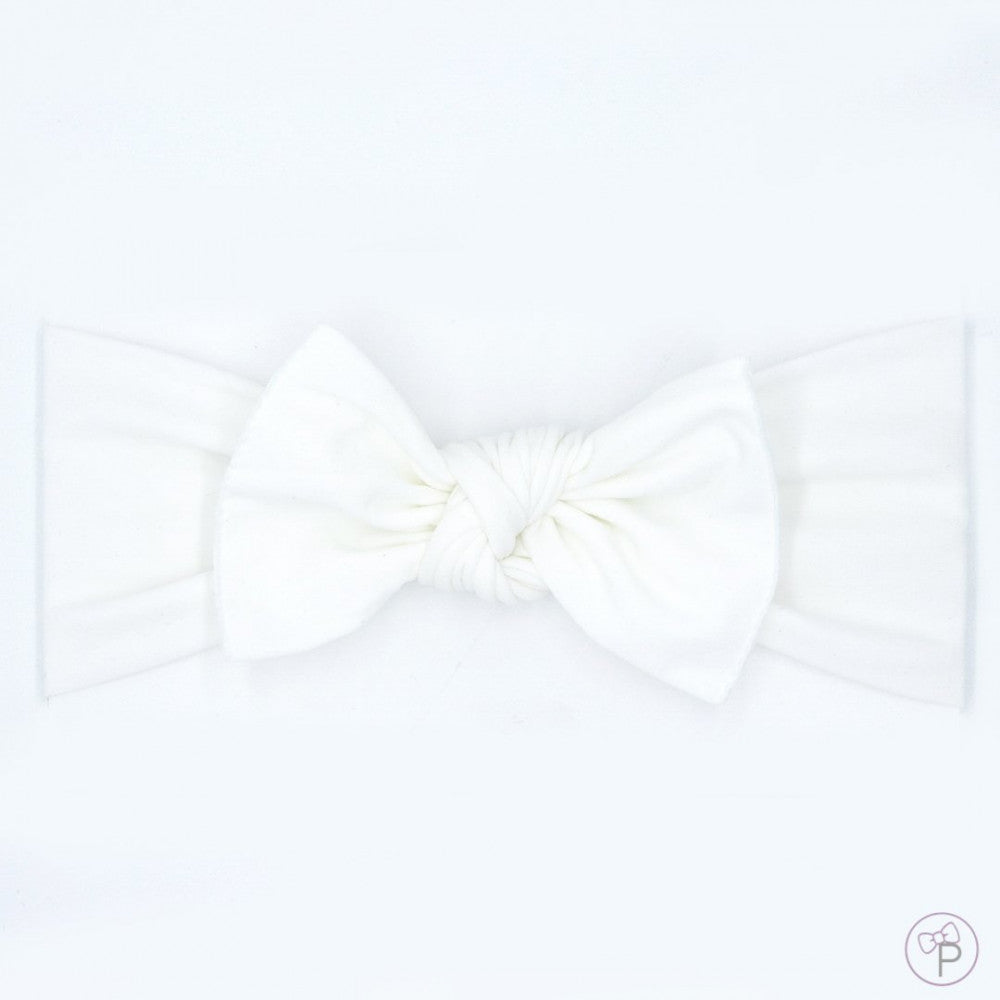 Little Bo Pip - White Pippa Bow Small