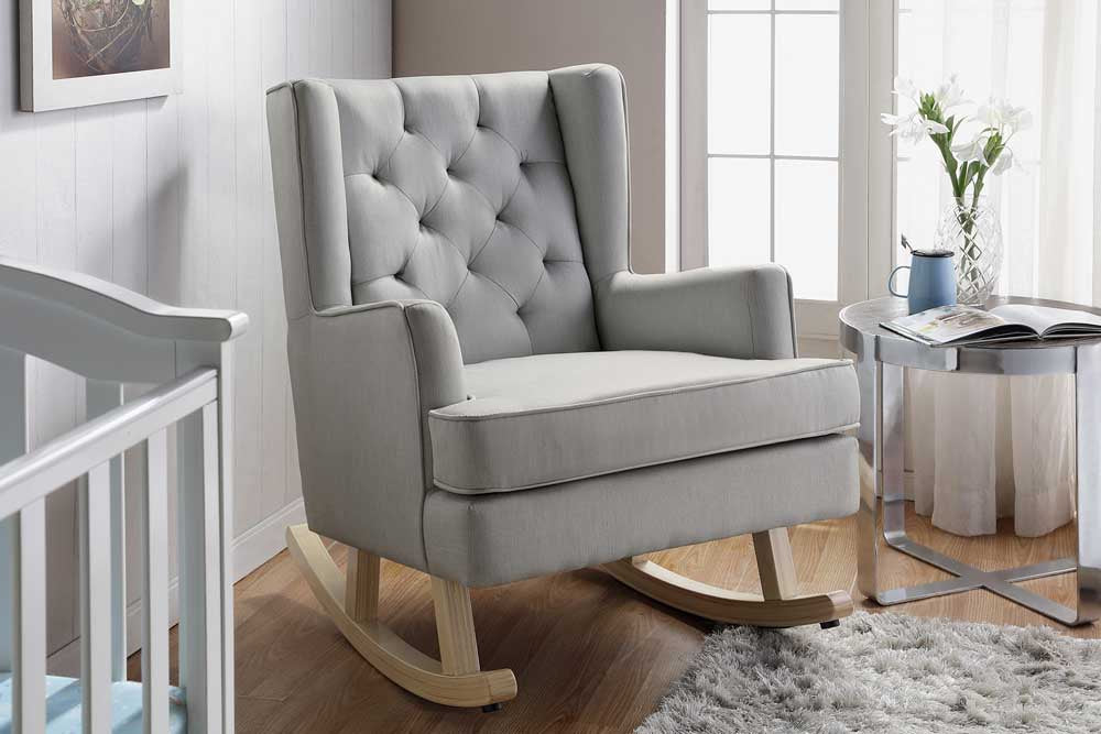 Nested Soothe Easy Chair & Rocker Grey/beech