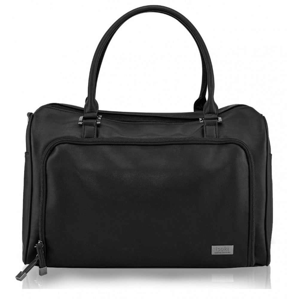 Isoki - Double Zip Satchel Onyx