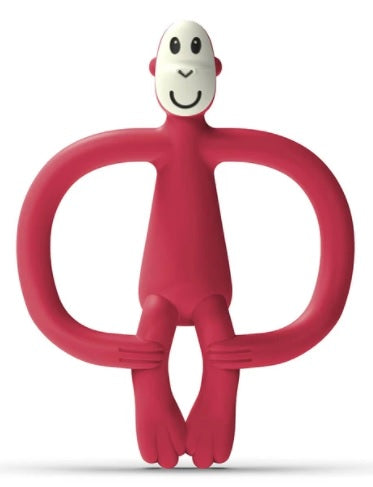 Matchstick Monkey Teether (ont) Red