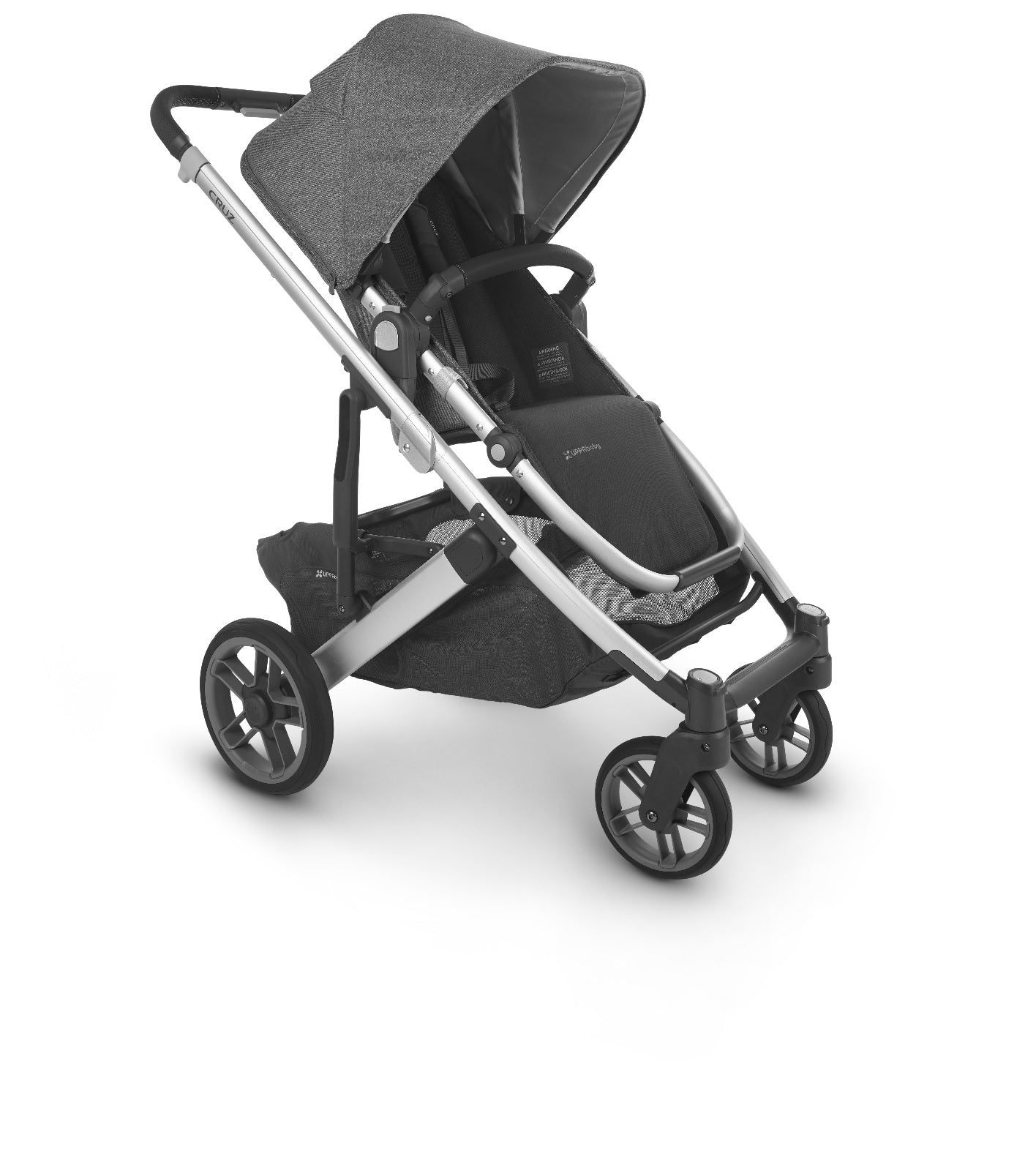Cruz 2 Stroller Jordan (black/grey Melange Fabric/silver/black Leather)