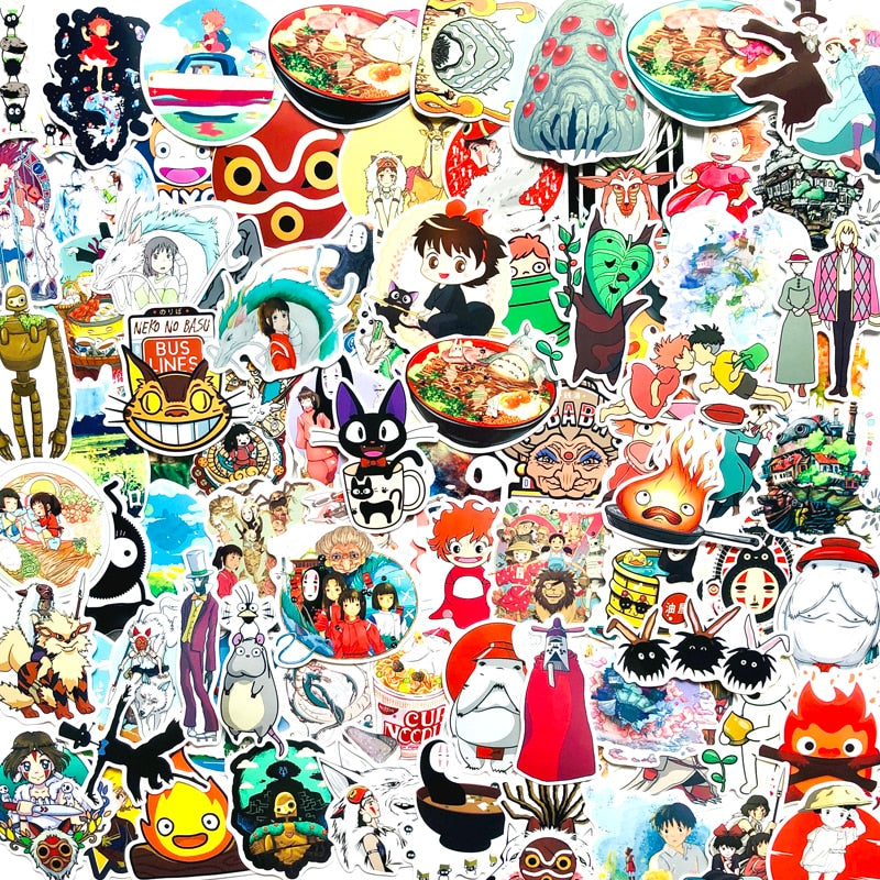 100pcs Studio Ghibli Stickers