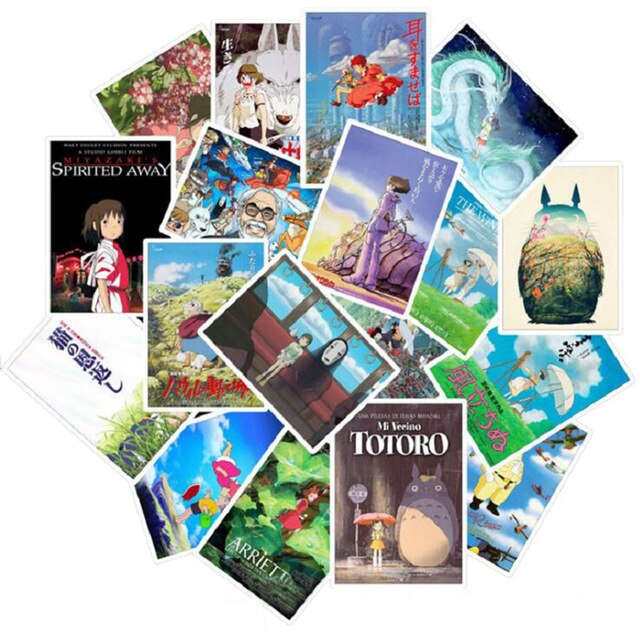 25pcs Studio Ghibli Stickers