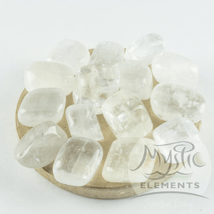 Clear Calcite tumbled