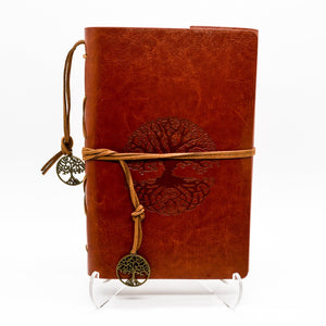Leather Tree of Life Journal Brown