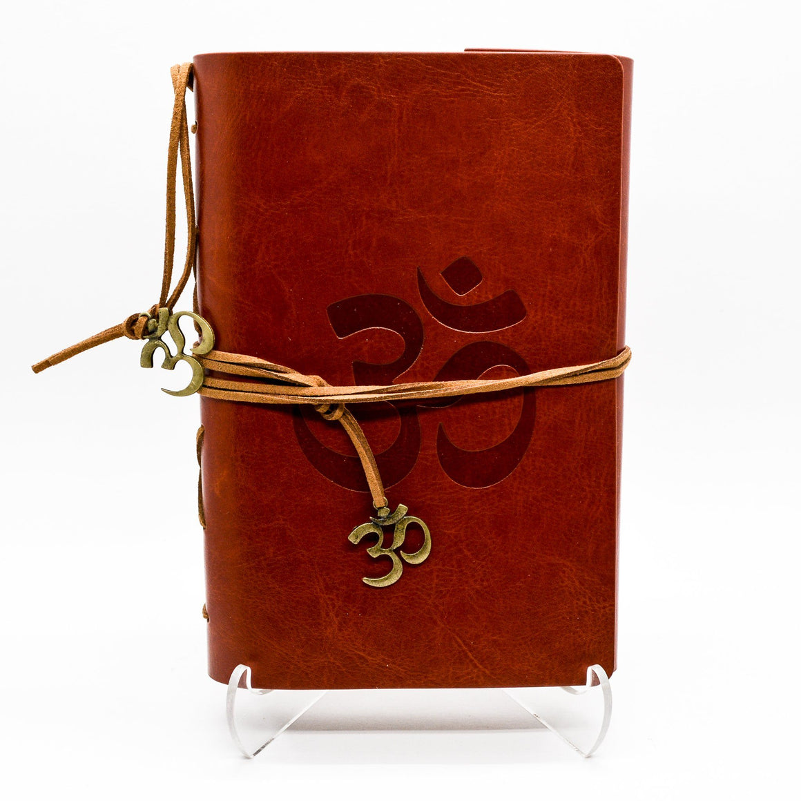 Om Brown Leather Journal