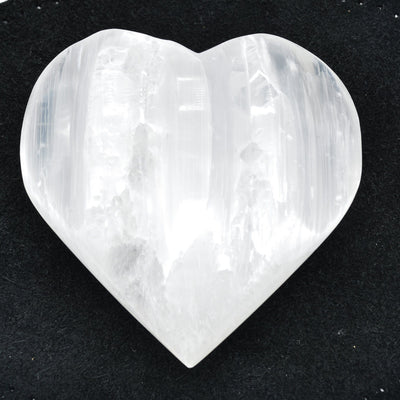 Selenite Carved Heart