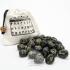 Black Agate Runes w/White Bag