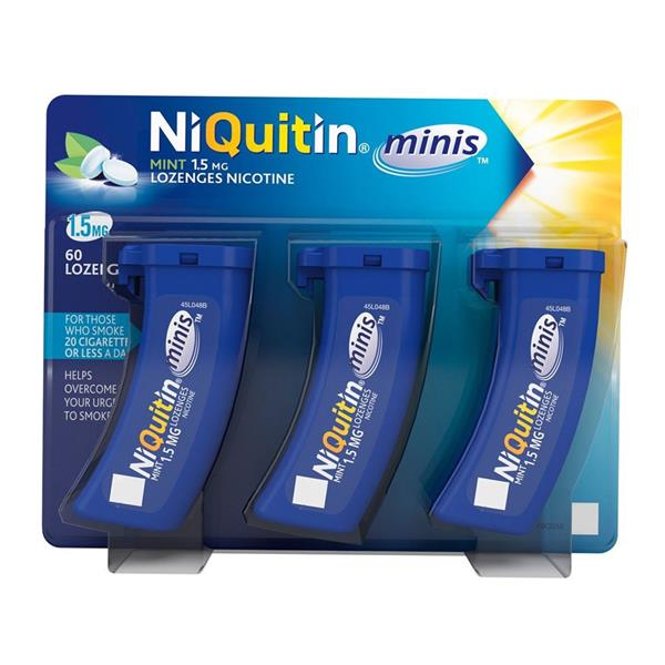 NiQuitin mini 1.5mg Mint Lozenges 60s