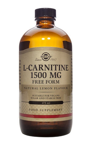 Solgar L-Carnitine 1500MG Natural Lemon Flavour - dolanschemist.ie