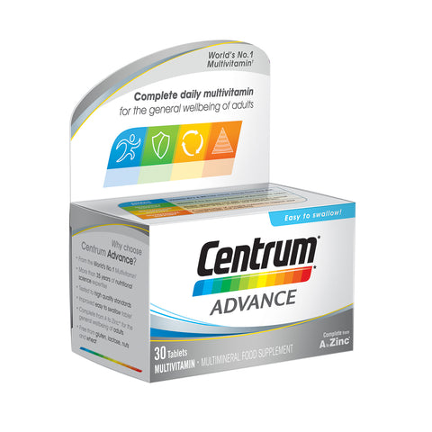 Centrum Advance Multivitamin 30 Pack - dolanschemist.ie