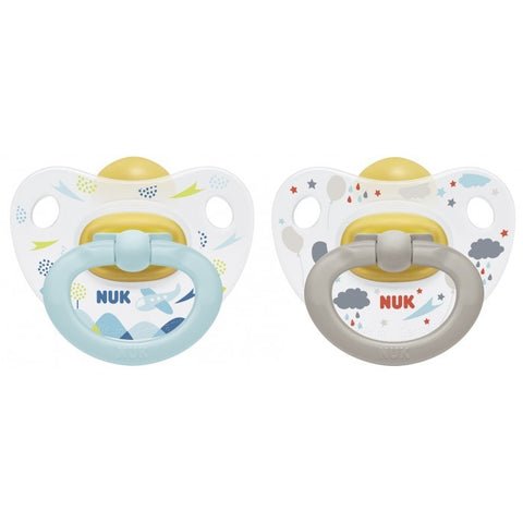 Nuk Happy Kids Blue-Grey Soother - dolanschemist.ie