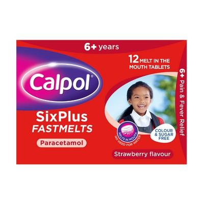 Calpol SixPlus Fastmelts 12 Tablets