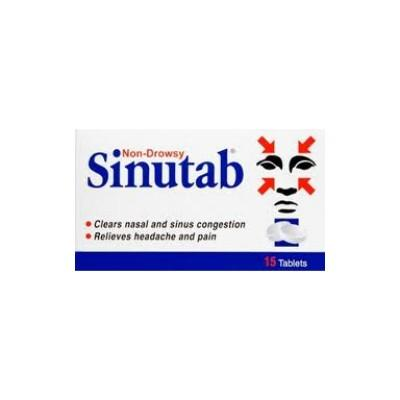Non Drowsy Sinutab 15 Tablets - dolanschemist.ie