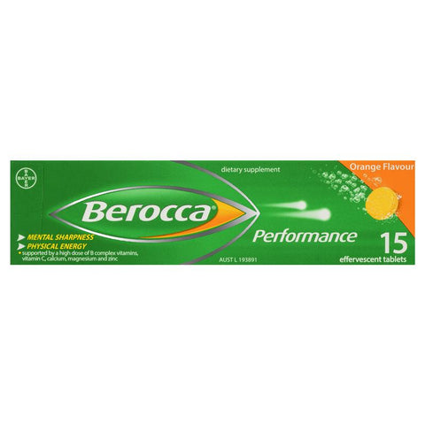 Berocca Performance Orange Flavour Tablets 15 Pack - dolanschemist.ie