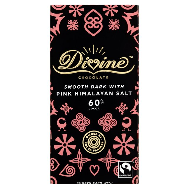 Divine Chocolate Smooth Dark with Pink Himalayan Salt 60% Cocoa