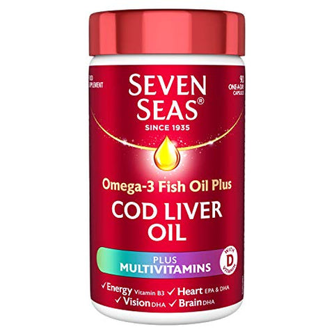 Seven Seas Cod Liver Oil Plus Multivitamins Capsules - dolanschemist.ie