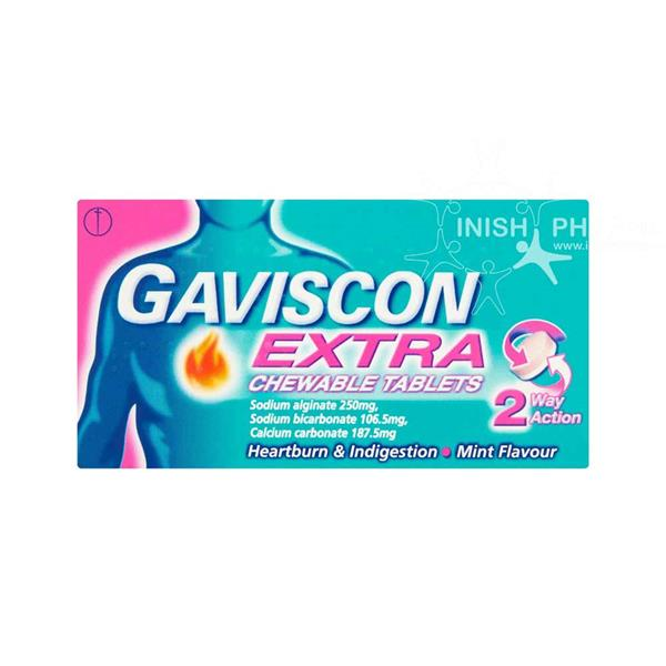 Gaviscon Extra Chewable Tablets Mint 48 Pack