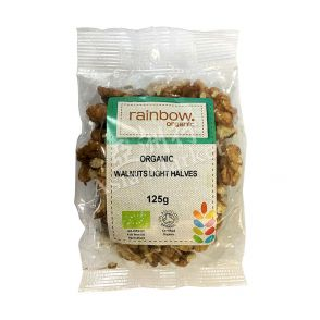 Rainbow Organic Walnuts Light Halves 125g