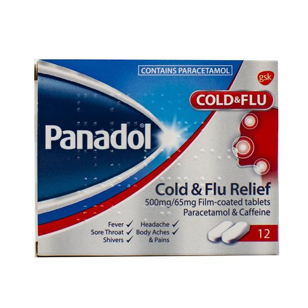 Panadol Cold&Flu Relief 12 Tablets