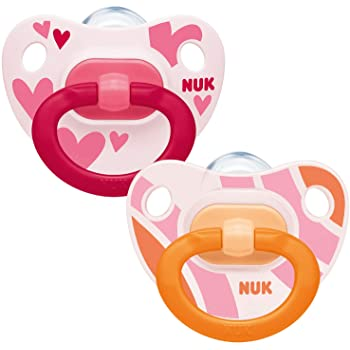 Nuk Happy Kids Pink-Orange Soother